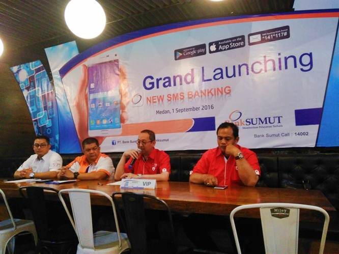 Launching Aplikasi New SMS Banking Bank Sumut